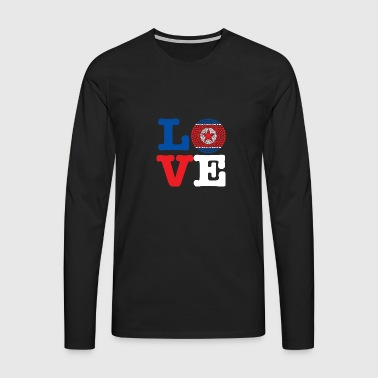KOREA DEMO REP HEART - Men's Premium Longsleeve Shirt