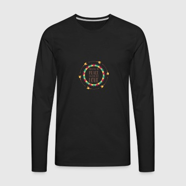 Hippie / Hippies: Breathe in peace. Breathe out - Men's Premium Longsleeve Shirt