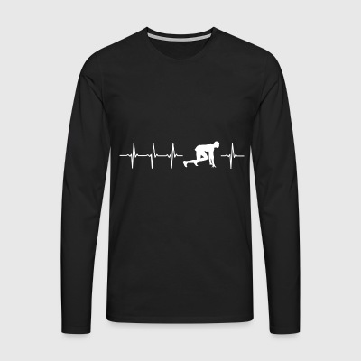 I love sprint (sprint heartbeat) - Men's Premium Longsleeve Shirt