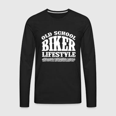 Old School Biker - Premium langermet T-skjorte for menn