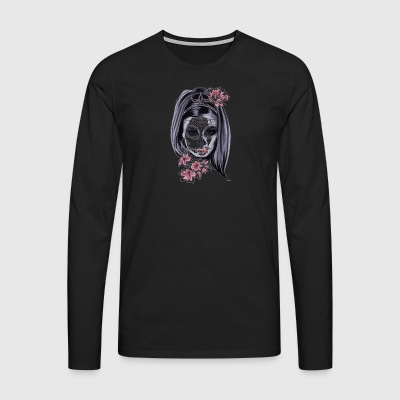 Woman with mask - Men's Premium Longsleeve Shirt