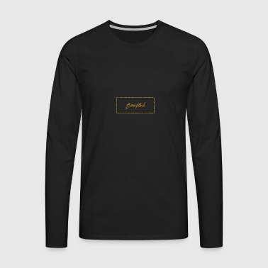 Scipted. Box Logo Gold - Men's Premium Longsleeve Shirt