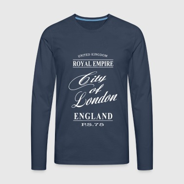 City of London - Långärmad premium-T-shirt herr