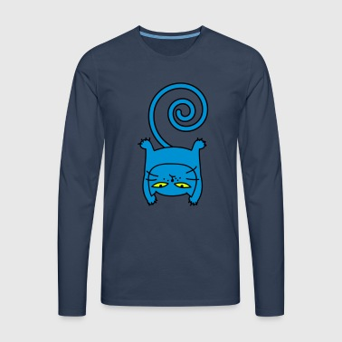 Sporty cat - Men's Premium Longsleeve Shirt
