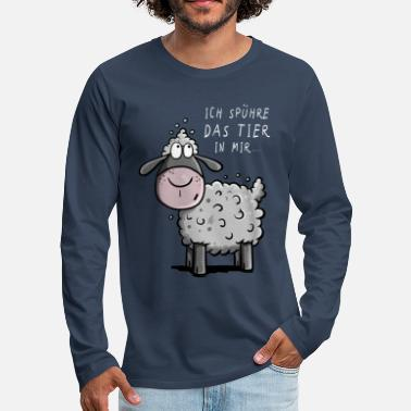 I Feel The Beast In Me Sheep I Gift - Men's Premium Longsleeve Shirt