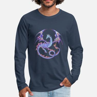 Dragon Dragon mandala light blue-lila_26 - Men's Premium Longsleeve Shirt