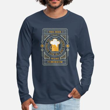 this beer tastes like... - T-shirt manches longues Premium Homme