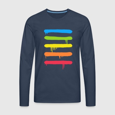 Trendy Cool Graffiti Tag Lines - Men's Premium Longsleeve Shirt