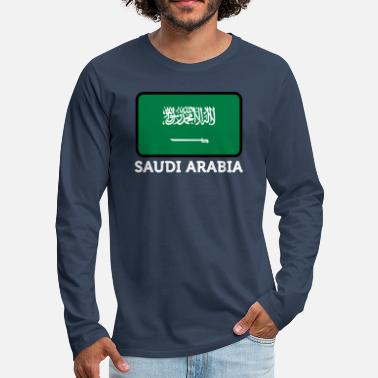 Arabia National Flag Of Saudi Arabia - Men's Premium Longsleeve Shirt