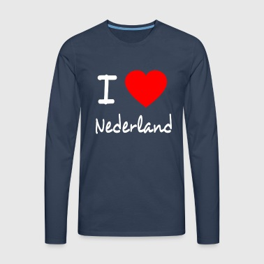 I LOVE THE NETHERLANDS - Mannen Premium shirt met lange mouwen