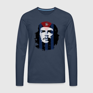 Che Guevara Bag Cuba Flag - Men's Premium Longsleeve Shirt