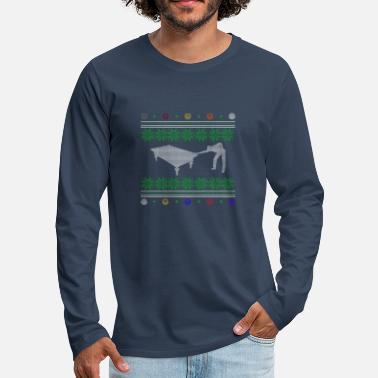 Snooker Billiards ugly sweater xmas gift snooker - Men's Premium Longsleeve Shirt