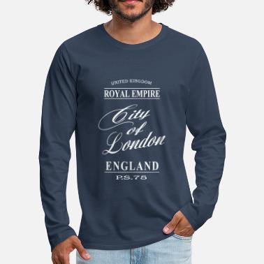 London City of London - Långärmad premium-T-shirt herr