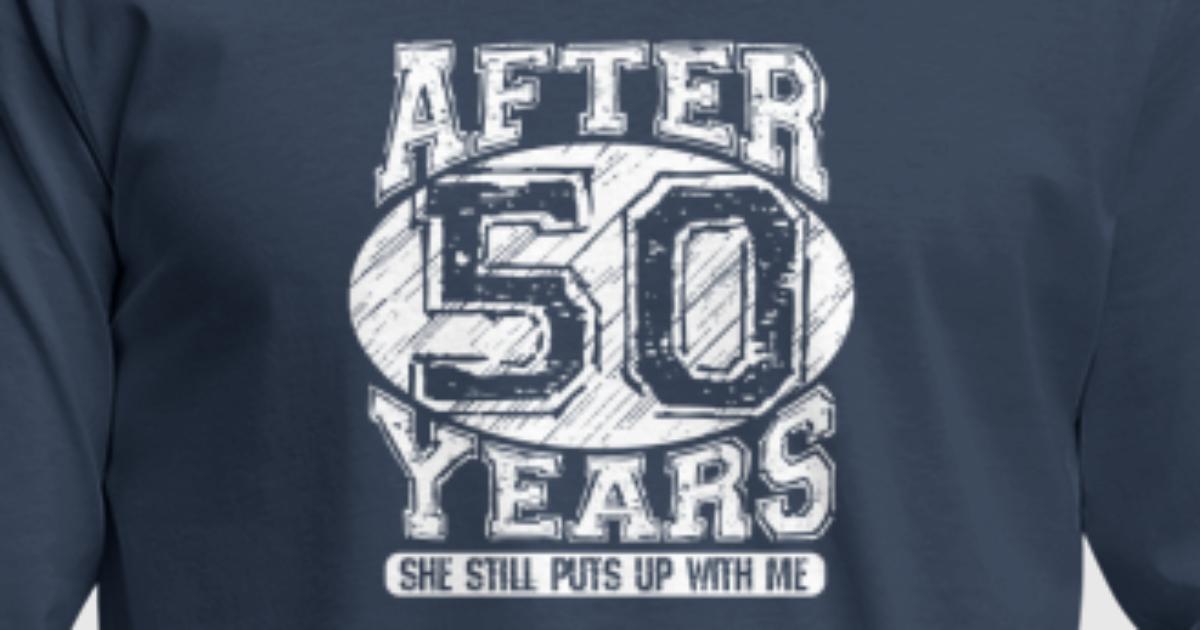 50th Wedding Anniversary Tshirt Funny Wife Shirts von Dokodo ...