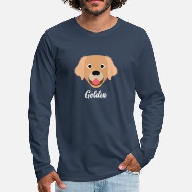 Gold Golden - Golden Retriever - Premium langermet T-skjorte for menn