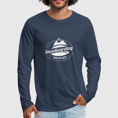 Snowboard Snowboard Snowboard - T-shirt manches longues Premium Homme