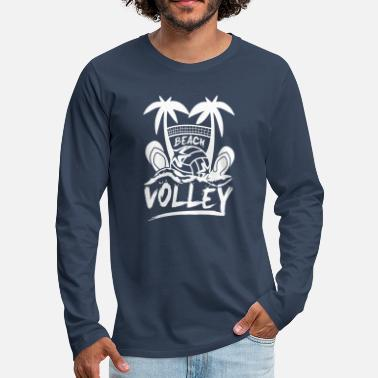 Volley BEACH VOLLEY - Herre premium T-shirt med lange ærmer
