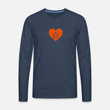 power of love v1 - Männer Premium Langarmshirt