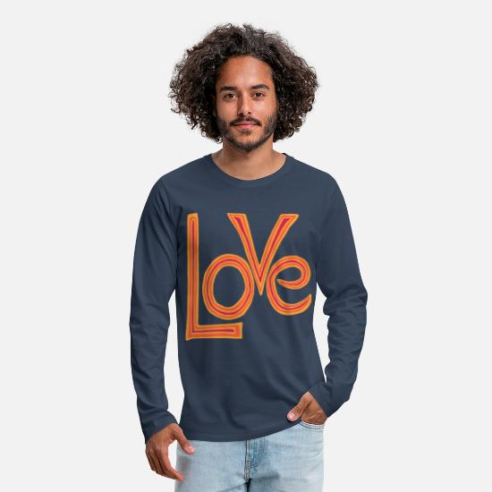 Love Long Sleeve Shirts - Love - Men's Premium Longsleeve Shirt navy