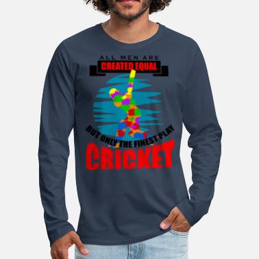 Moneygram Cricket all men are created equal but only the fin - Männer Premium Langarmshirt