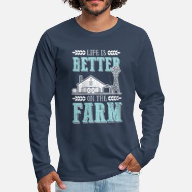 Farmer Farmer farmer living farm - Men's Premium Longsleeve Shirt