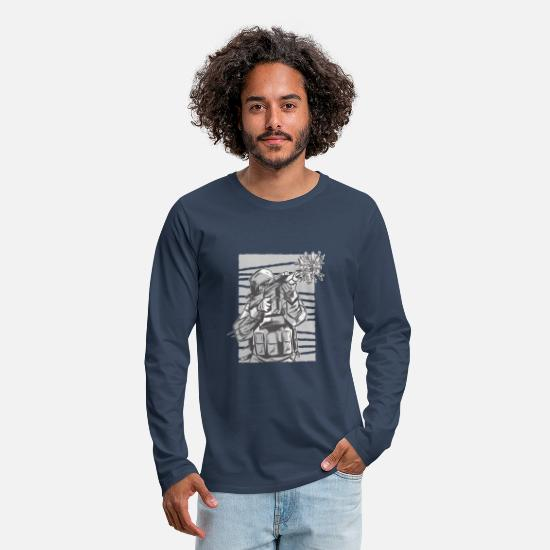 Love Long sleeve shirts - Soldier Flowers - Make love was not - Men's Premium Longsleeve Shirt navy