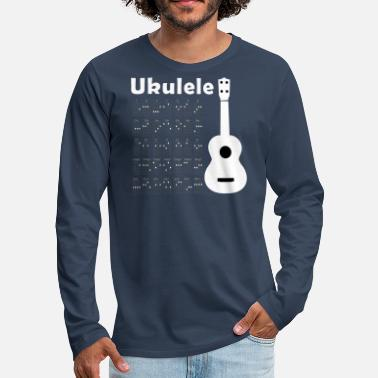 Ukulele Chords white - Men's Premium Longsleeve Shirt