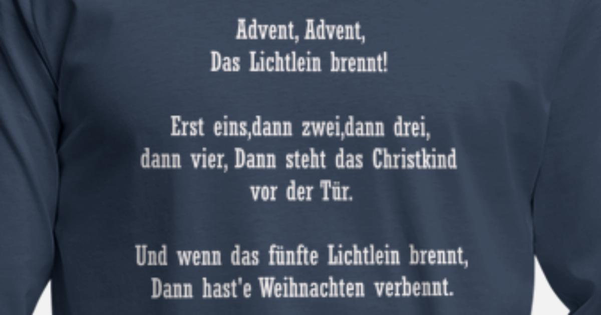 Advent Gedicht Männer Premium Langarmshirt Spreadshirt