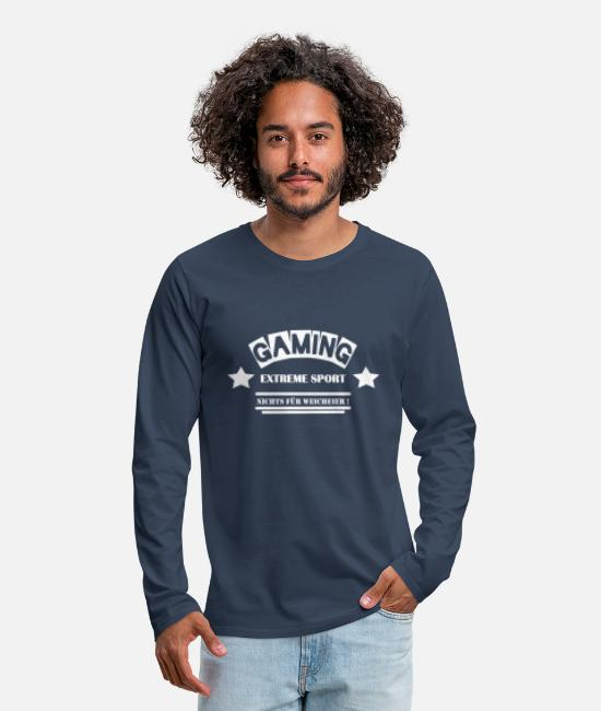 New Long-Sleeved Shirts - Gaming - Not for the Whimsy - Leibl Designs - Men's Premium Longsleeve Shirt navy