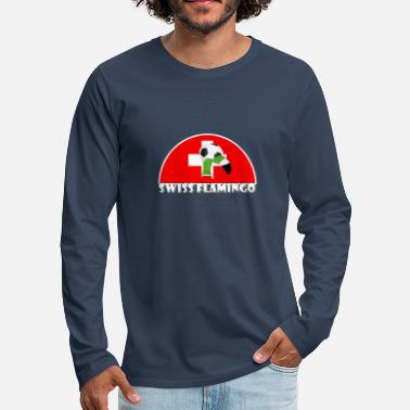 Swiss football lawn flamingo - Men's Premium Longsleeve Shirt