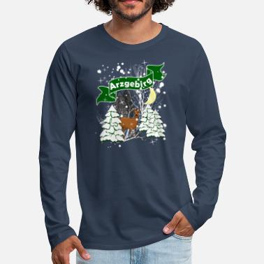 Ore Mountains Winter in the Ore Mountains - Men's Premium Longsleeve Shirt