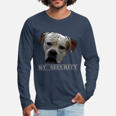 Attack Dog Attack dog, dog, dog head, security, guard dog - Men's Premium Longsleeve Shirt