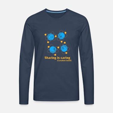 Deling er omsorg kemi kovalent bånd T skjorte for menn