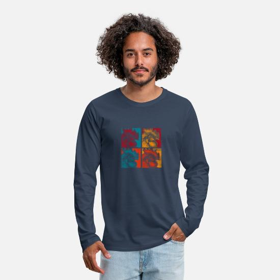 Gift Idea Long sleeve shirts - Chicken farmer village - Men's Premium Longsleeve Shirt navy