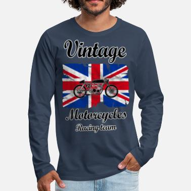 Uk uk motorcycles racing - Men's Premium Longsleeve Shirt