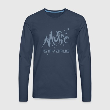 music drug (a) - Men's Premium Longsleeve Shirt