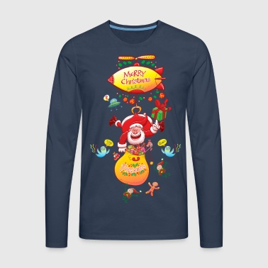 Santa has a Zeppelin to Deliver Xmas Gifts - Men's Premium Longsleeve Shirt