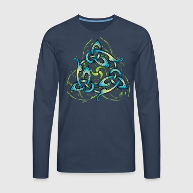 Celtic Flower - Men's Premium Longsleeve Shirt