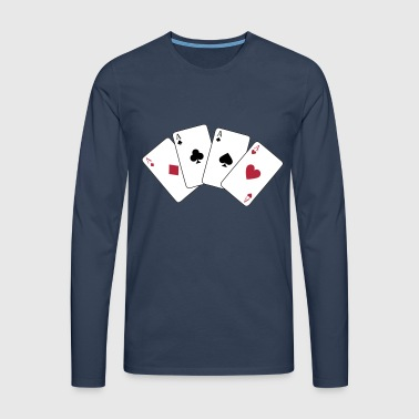 Card Game, Poker, Ace - T-shirt manches longues Premium Homme