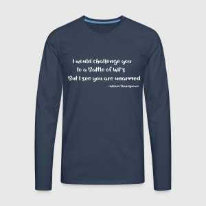 Shakespeare Quotes - Men's Premium Longsleeve Shirt