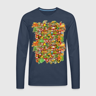 In Christmas Melt into the Crowd and Enjoy - Men's Premium Longsleeve Shirt