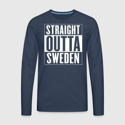 STRAIGHT OUTTA SWEDEN - Men's Premium Longsleeve Shirt