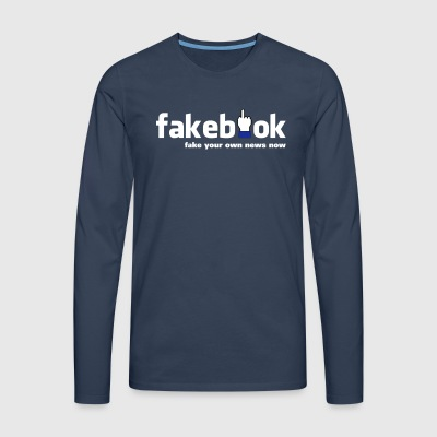 fakebook - T-shirt manches longues Premium Homme