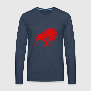 New Zealand: Kiwi in red - Men's Premium Longsleeve Shirt