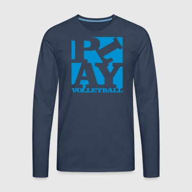 play volleyball Homage to Robert Indiana schwarz a - Männer Premium Langarmshirt