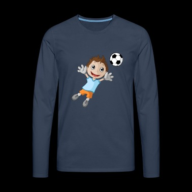 Little goalkeeper boy - Men's Premium Longsleeve Shirt