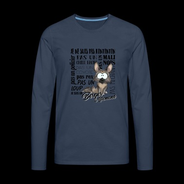 I am German Shepherd - gray - blackFR - Men's Premium Longsleeve Shirt