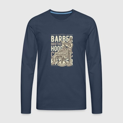 Barber Brotherhood - T-shirt manches longues Premium Homme