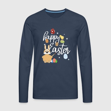 Happy Easter - Funny Easter T-Shirt Gift - Men's Premium Longsleeve Shirt