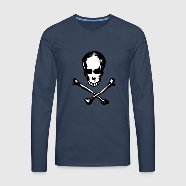 Skull with bone - Men's Premium Longsleeve Shirt